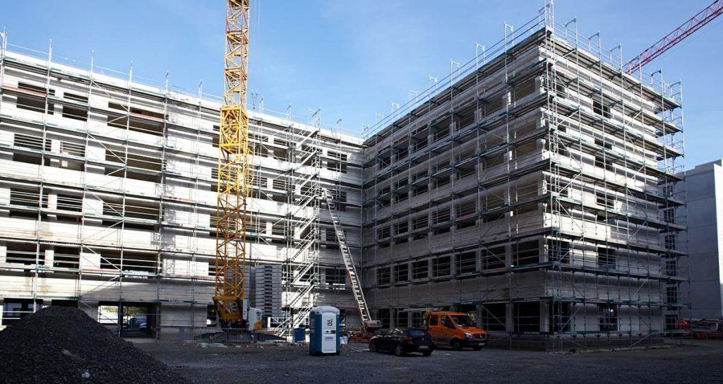 Neubau Bürogebäude in KölnRohbauarbeiten