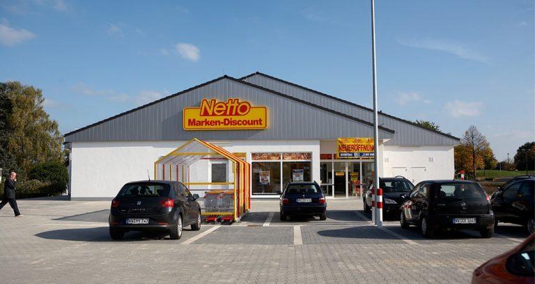 Verkaufshalle für die Discountkette Netto