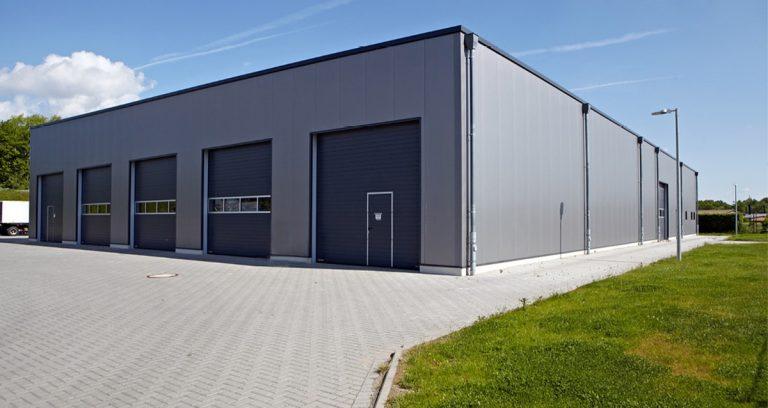 Lagerhalle mit Bürotrakt für die Gemeindewerke in Grefrath