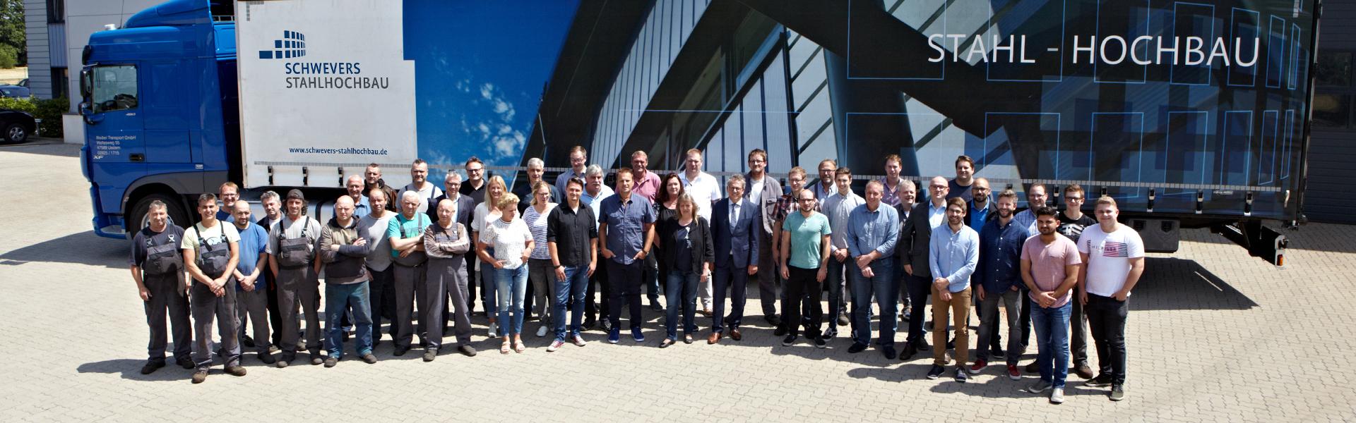 Schwevers Stahlhochbau Team Über uns